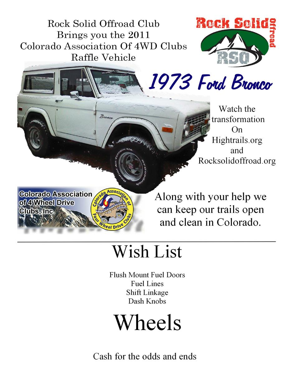 4x4 And Off Road Forum View Single Post Colorado Bronco Painless Wiring Harness Association Of 4wd Clubs Raffle Build